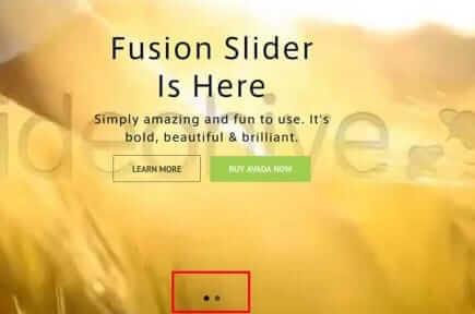 Fusion Slider ページネーションの表示