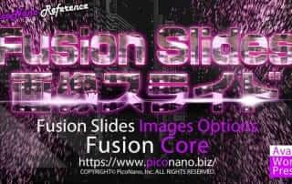 Fusion Slides 画像スライドオプション