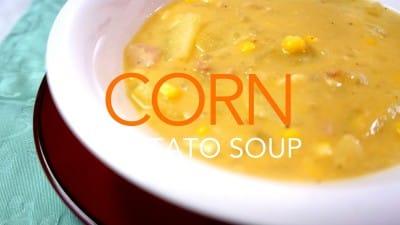 ベーコン入りポテトスープ