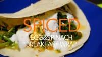 卵とほうれん草のスパイシーラップサンド