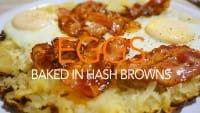 卵乗せハッシュドポテト