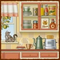 レトロなキッチン