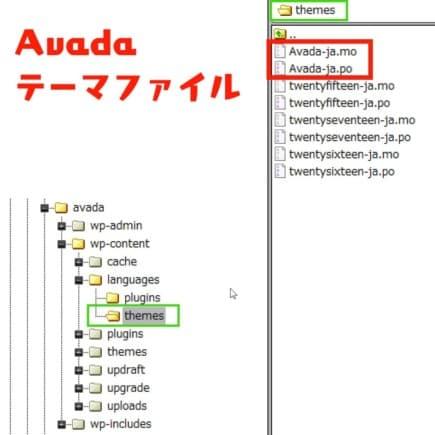 テーマファイルの翻訳
