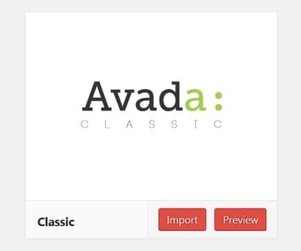 Avada Classic デモ
